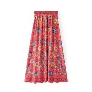 💕Boho floral skirt